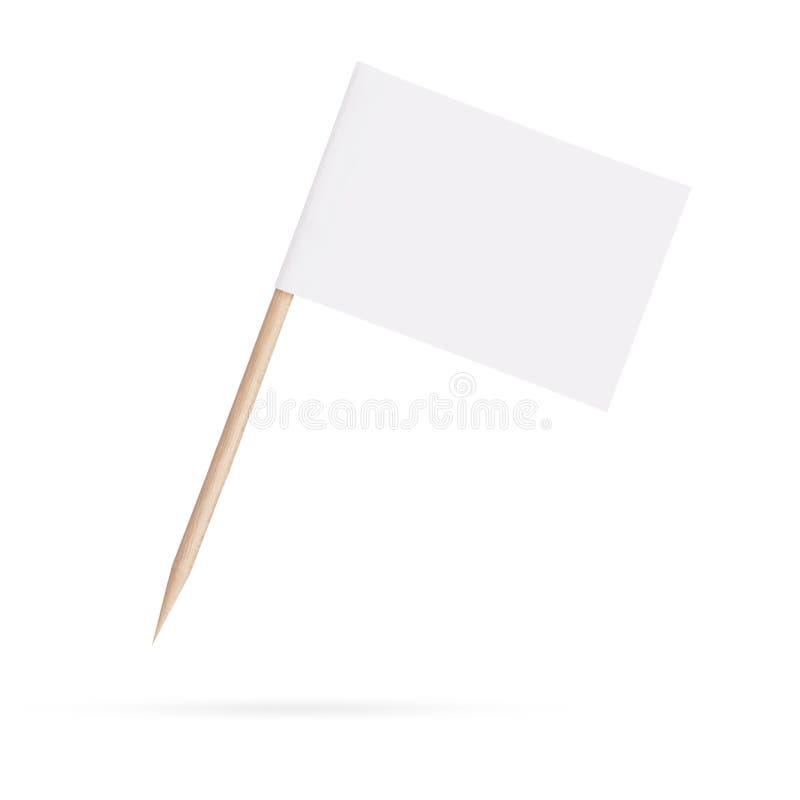 Пустой флаг парламентера белизна изолированная предпосылкой стоковые изображения