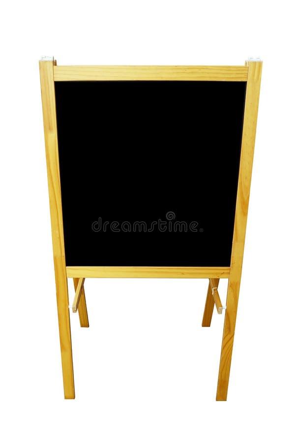 Пустой черный изолированный фронт меню доски стоковое фото