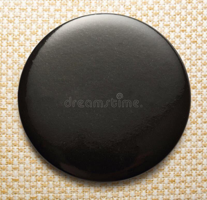 Пустой черный круглый значок стоковые изображения
