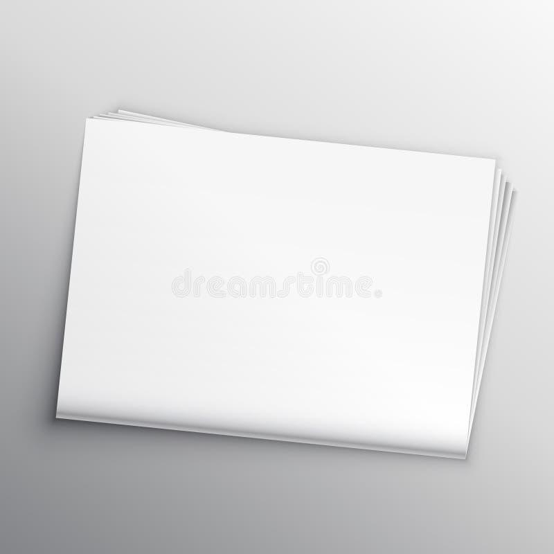 Пустой шаблон дизайна модель-макета газеты иллюстрация штока
