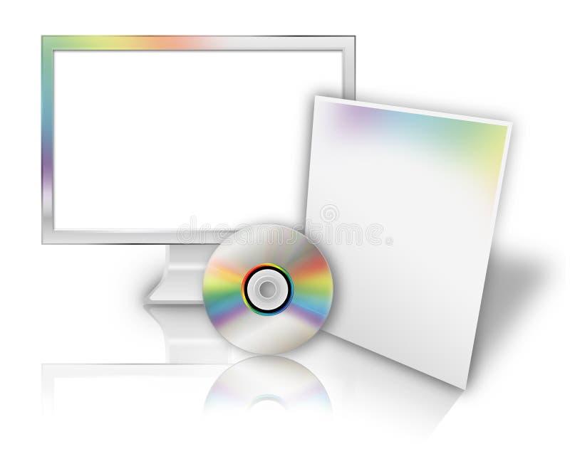 пустой шаблон технологии ПО компьютера бесплатная иллюстрация
