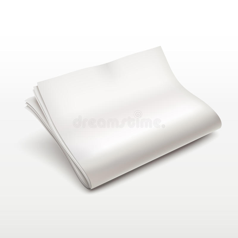 Пустой шаблон газеты иллюстрация вектора