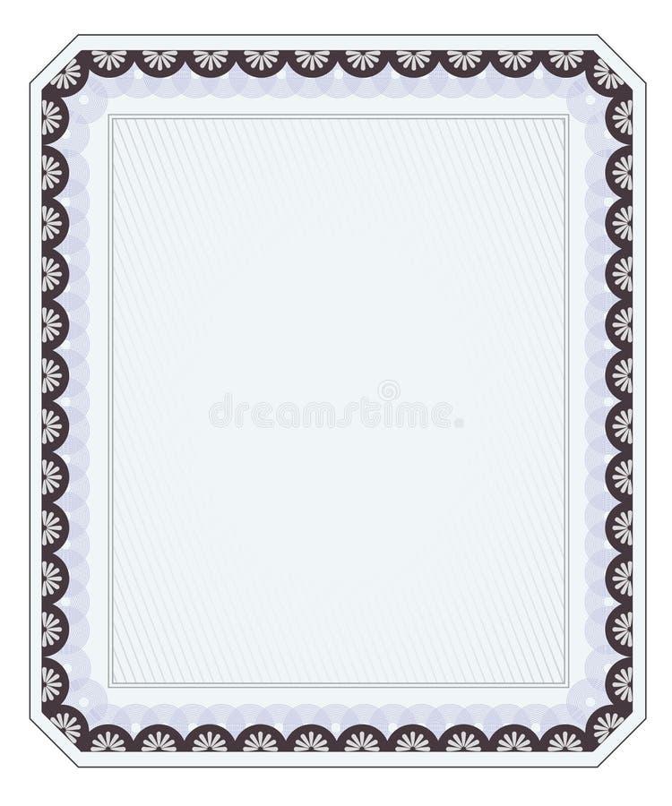 Пустой шаблон диплома бесплатная иллюстрация