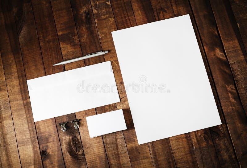 Пустой шаблон идентичности стоковое изображение rf