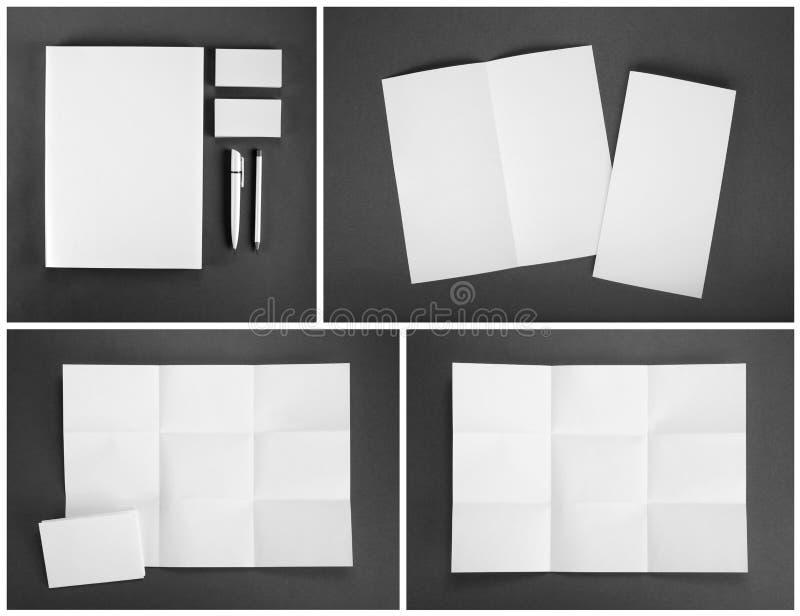 Пустой шаблон канцелярских принадлежностей для клеймя идентичности для дизайнеров стоковое фото rf
