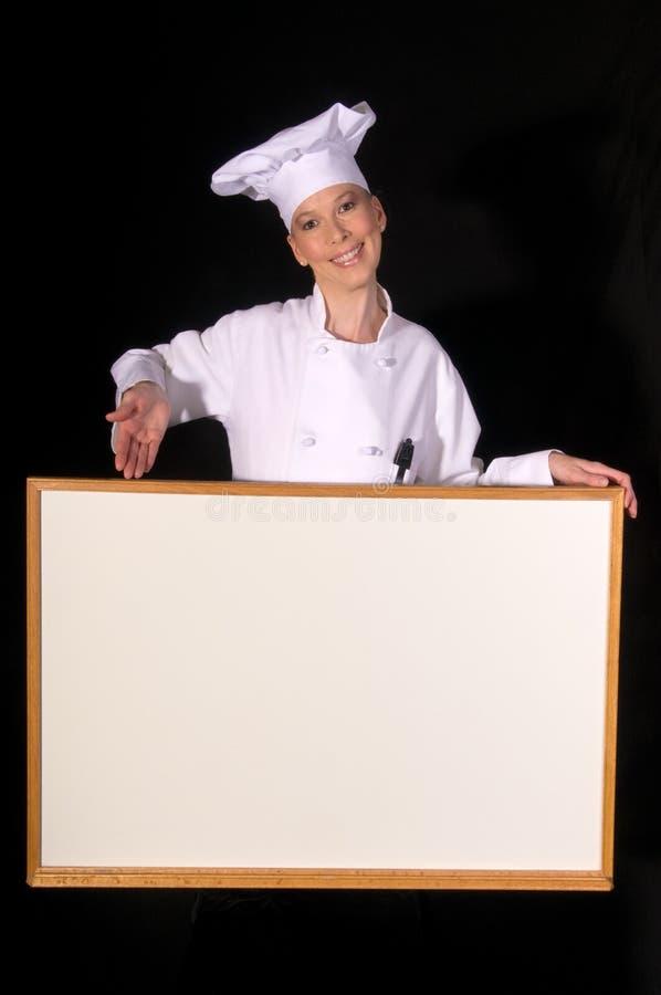 пустой шеф-повар доски представляет белизну стоковая фотография rf