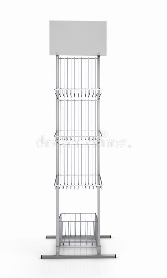 Пустой шкаф для выдвиженческих продуктов иллюстрация вектора