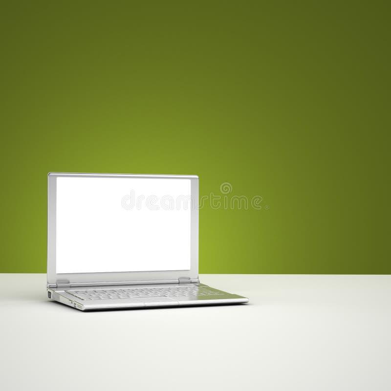 пустой экран компьтер-книжки