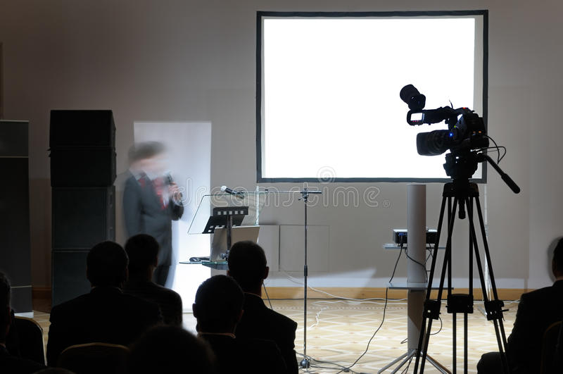 пустой экран конференции стоковое фото