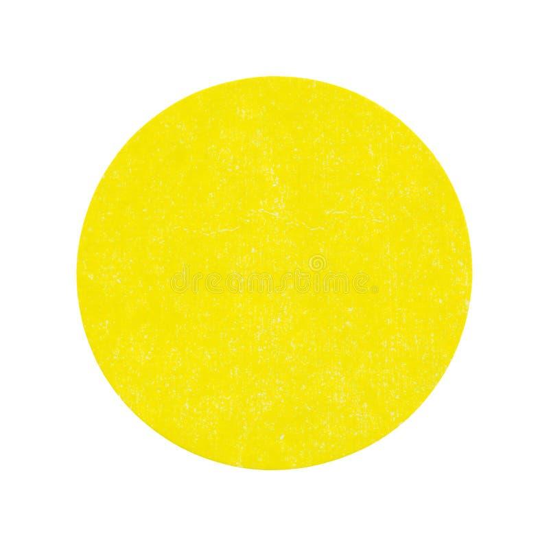Пустой яркий желтый стикер распродажи старых вещей стоковое фото