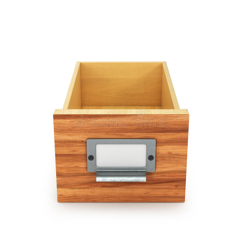 Пустой ящик для папок и файлов архитектурноакустически стоковая фотография