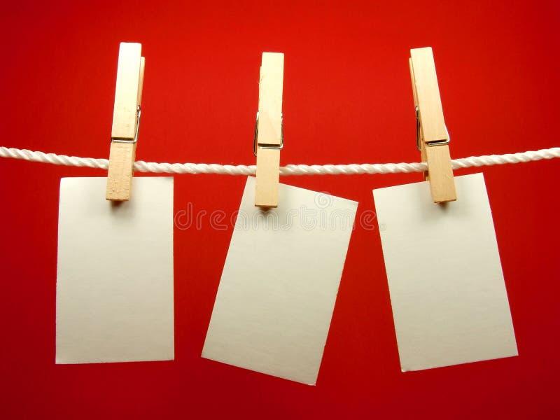 пустой hang замечает веревочку стоковые фотографии rf