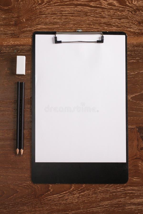 Пустой letterhead для шаблона фирменного стиля стоковые фото