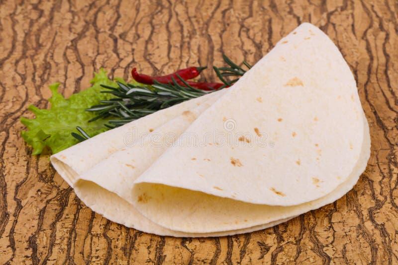 Пустой tortilla homamade стоковая фотография