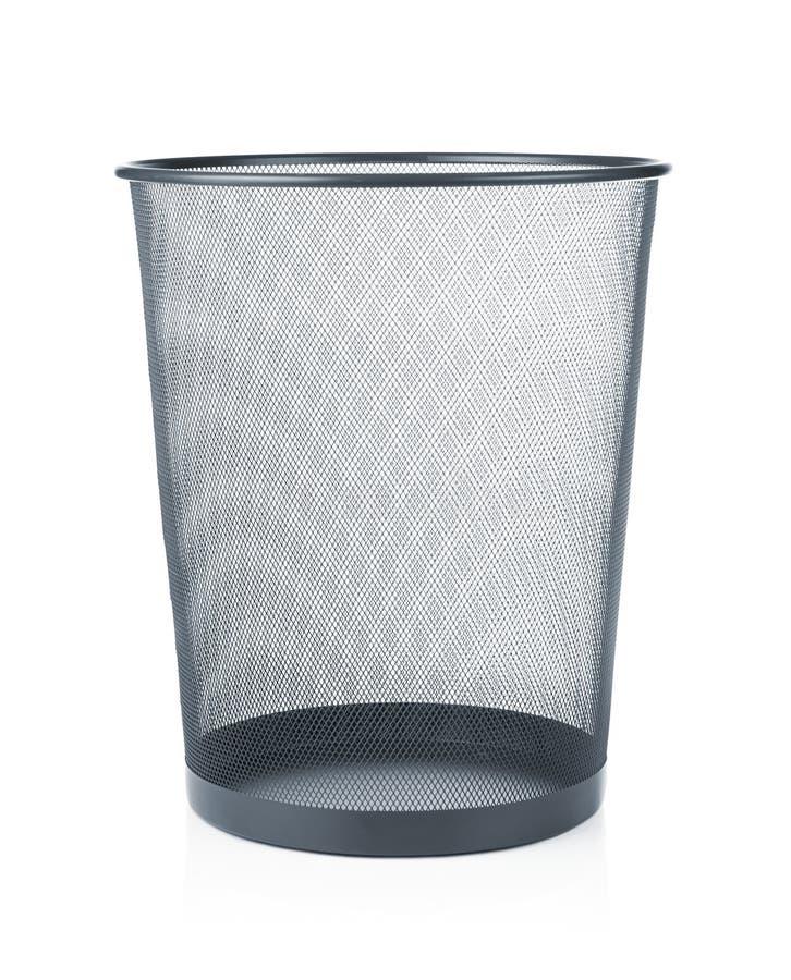 Пустой wastebasket стоковые фото
