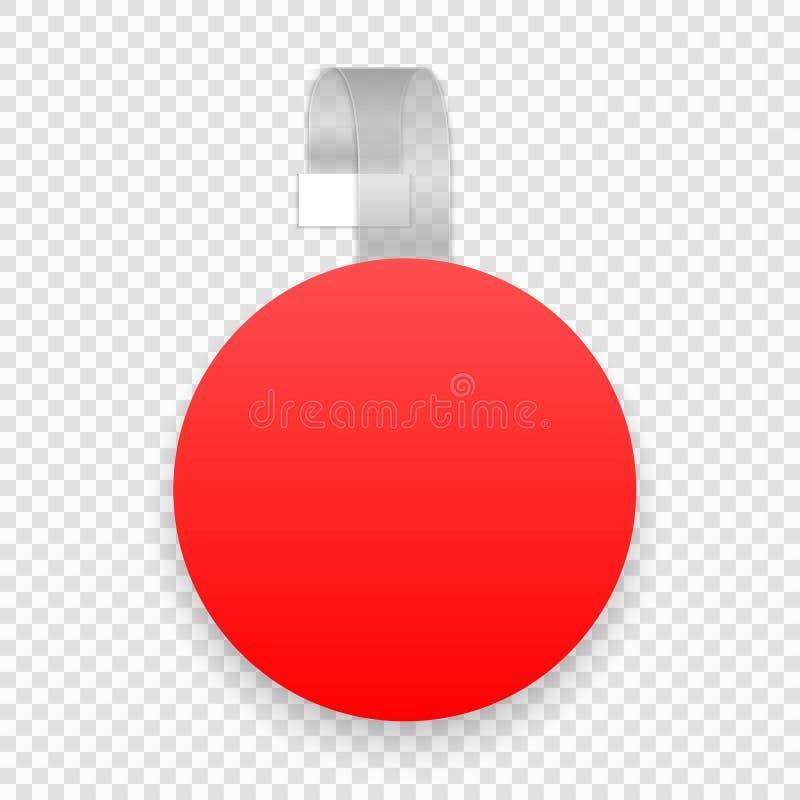 пустой wobbler иллюстрация вектора