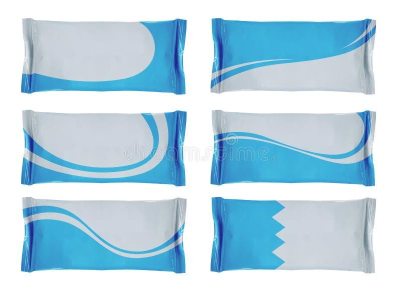 пусто охладьте белизну фольги конструкции упаковывая стоковые изображения rf