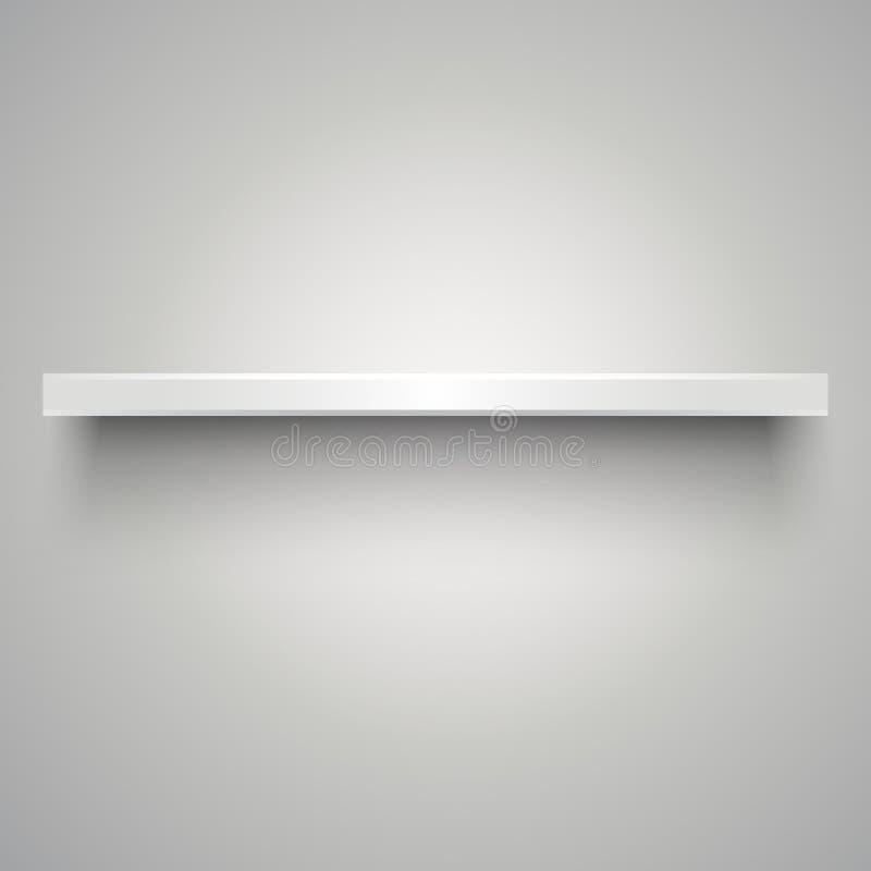пусто shelve белизна иллюстрация вектора