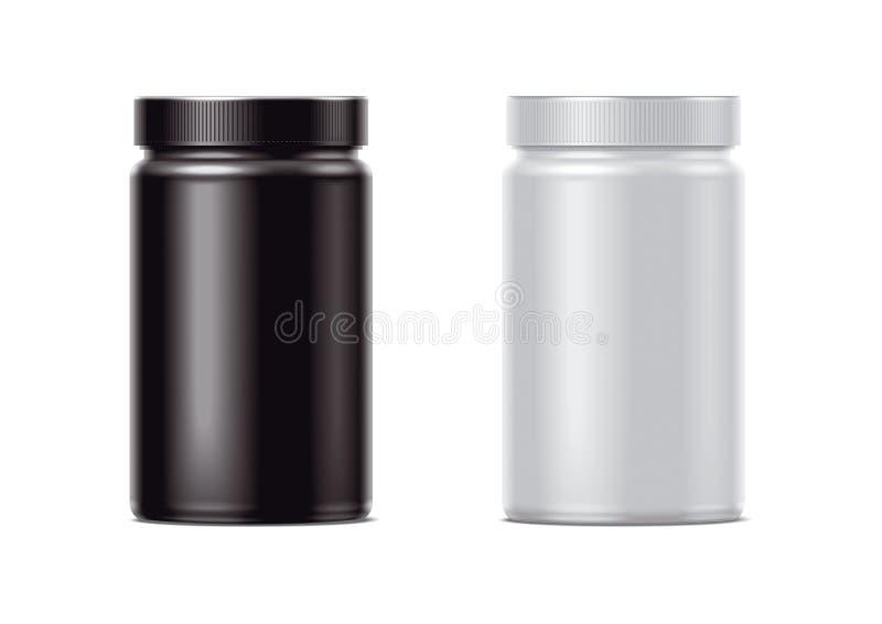 пустые бутылки пластичные иллюстрация вектора