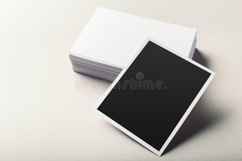 пустые визитные карточки стоковое фото