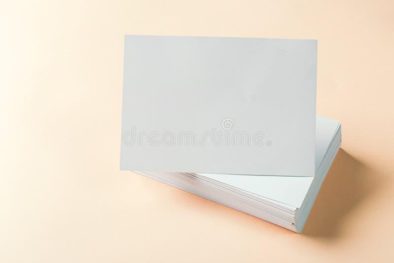 пустые визитные карточки стоковое изображение rf