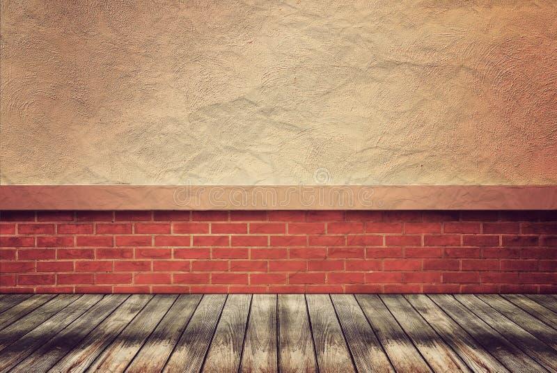 Пустые деревянные пол и стена стоковая фотография