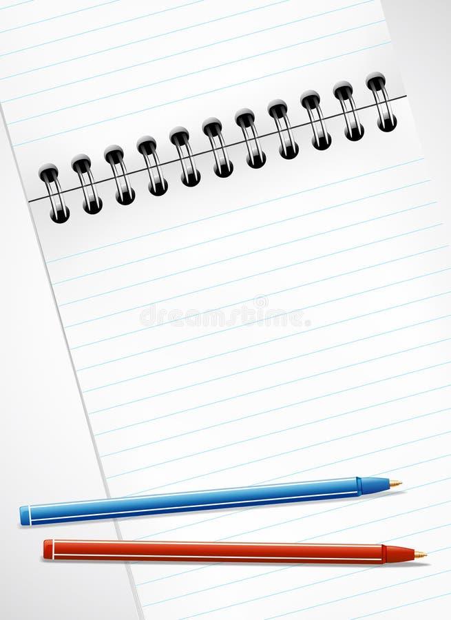 пустые карандаши страницы тетради бесплатная иллюстрация