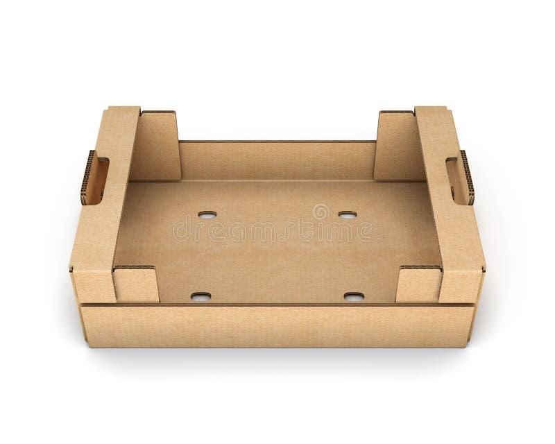 Пустые картонные коробки для фрукта и овоща иллюстрация вектора