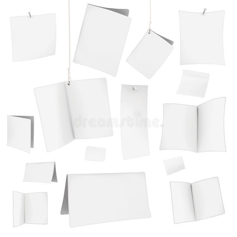 пустые карточки vector белизна иллюстрация штока