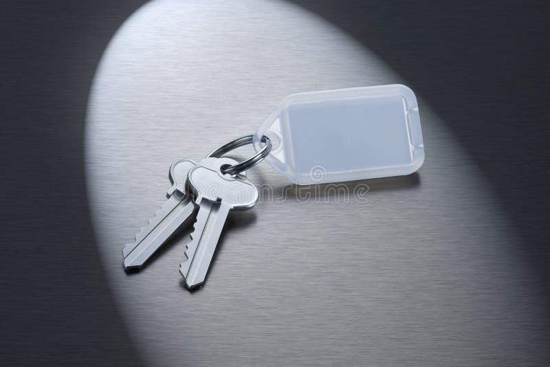 пустые ключи keyring стоковая фотография rf