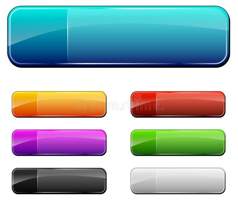 Пустые кнопки сети иллюстрация штока