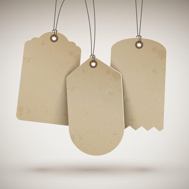Пустые коричневые ценники бесплатная иллюстрация