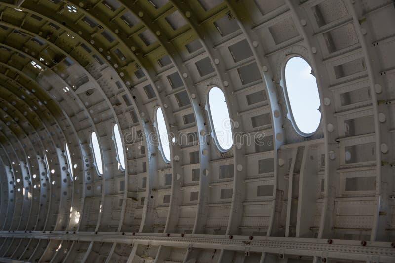 Пустые корпус летательного аппарата/фюзеляж самолета стоковая фотография rf