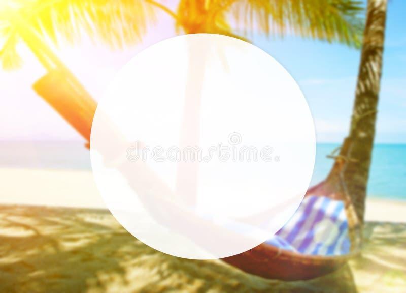 пустые пальм гамака стоковые изображения rf