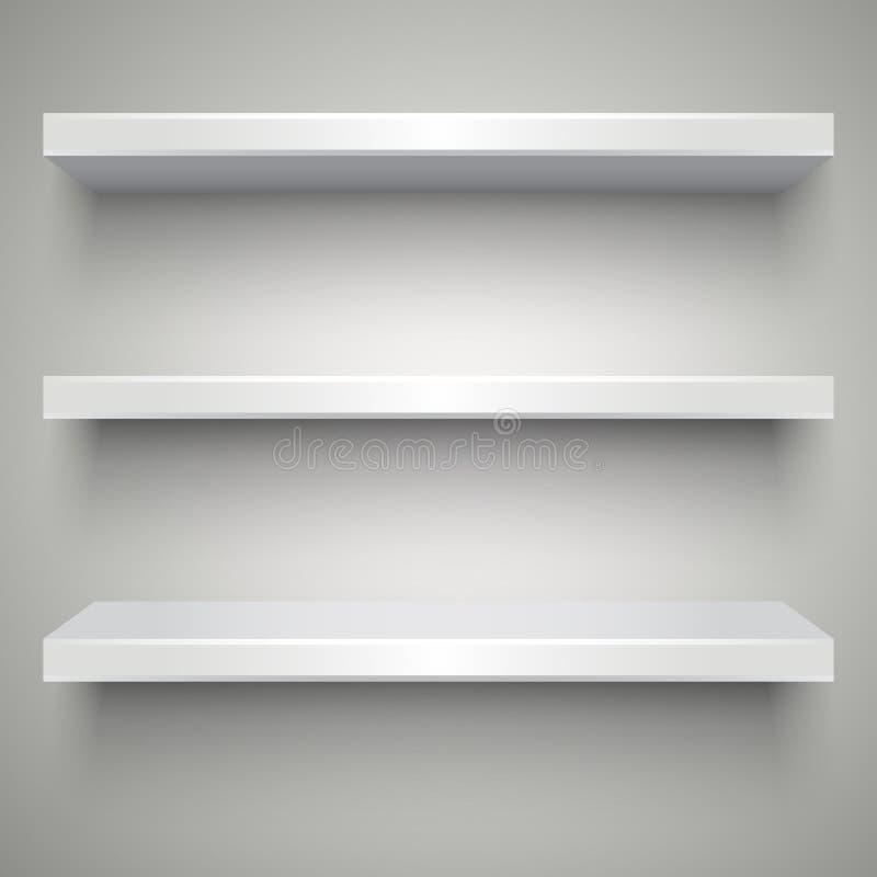 пустые полки белые бесплатная иллюстрация