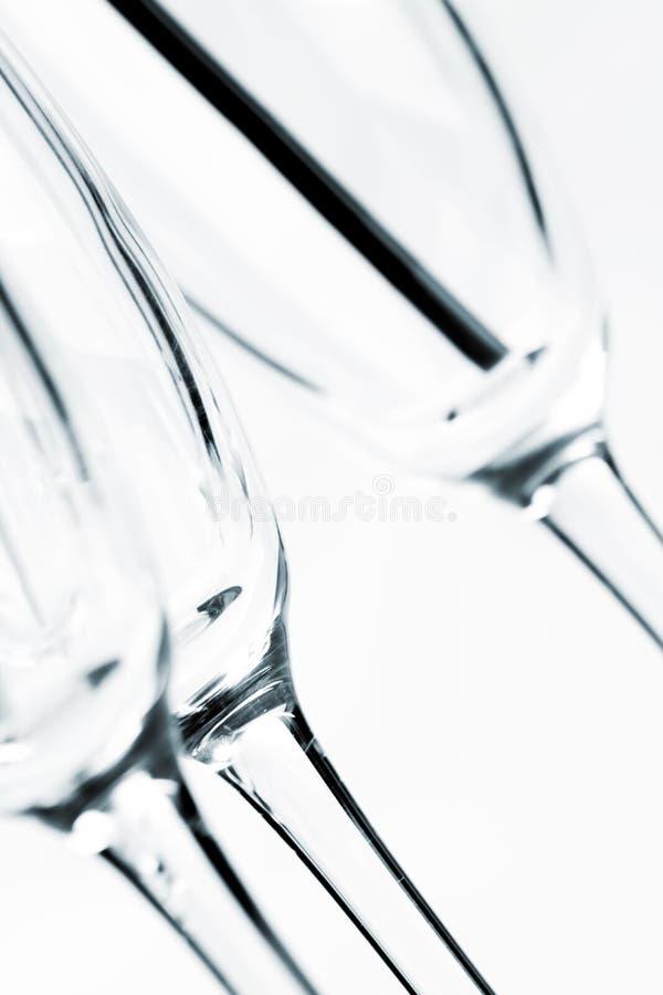 Пустые прозрачные стекла стоковое изображение