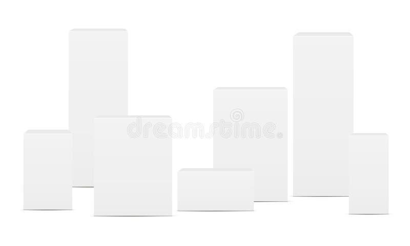 Пустые прямоугольные коробки иллюстрация вектора