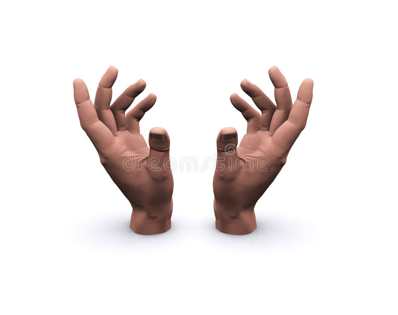 пустые руки держа космос стоковые изображения rf
