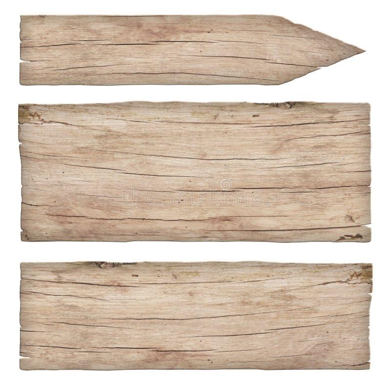 Пустые старые выдержанные светлые деревянные знаки стоковая фотография rf