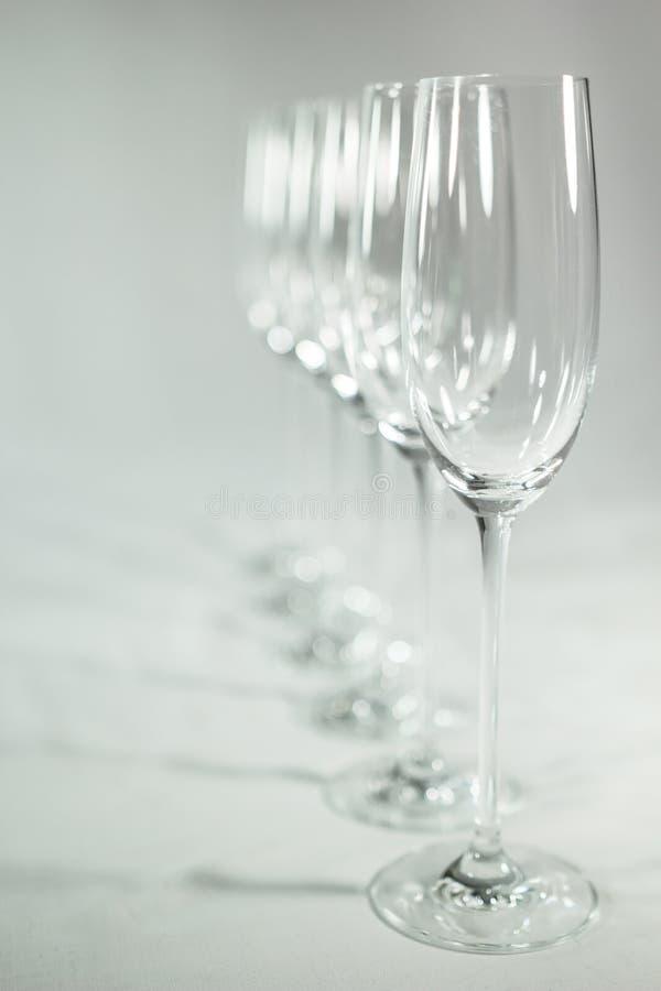 Пустые стекла шампанского стоковое изображение