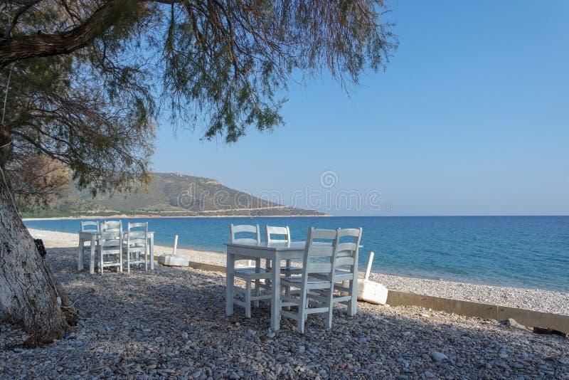 Пустые стулья на взморье стоковое изображение