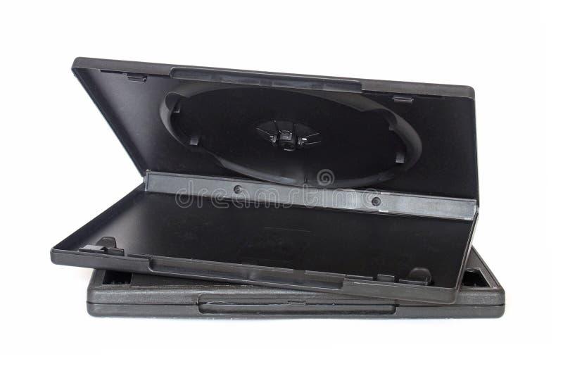 Пустые черные коробки dvd стоковые фотографии rf
