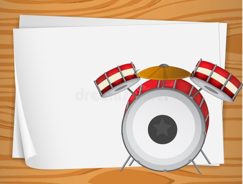 Пустые bondpapers с барабанчиками иллюстрация штока