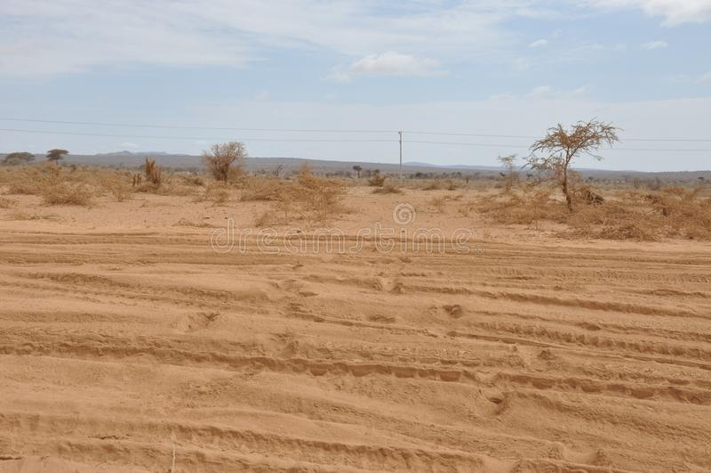 Пустыни Восточной Африки стоковая фотография rf