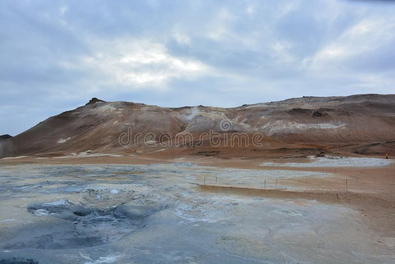 Пустыня горы серы стоковая фотография