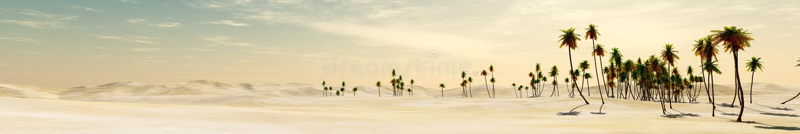 пустыня и пальмы стоковые фотографии rf