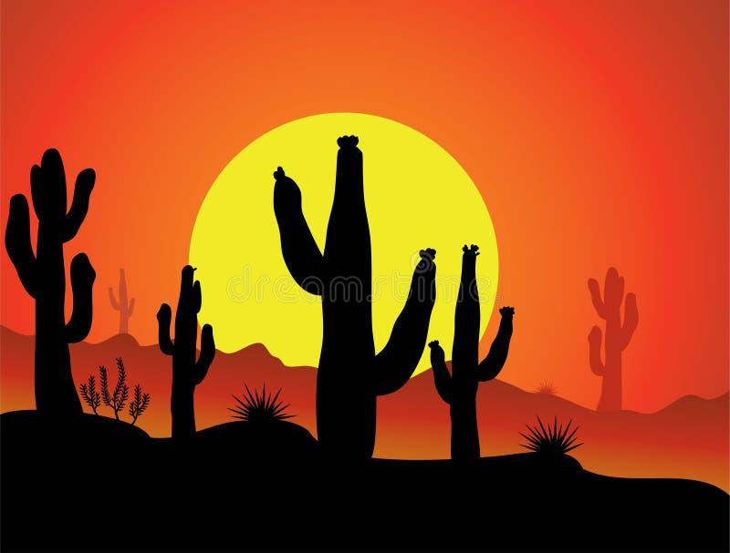 пустыня кактуса иллюстрация вектора