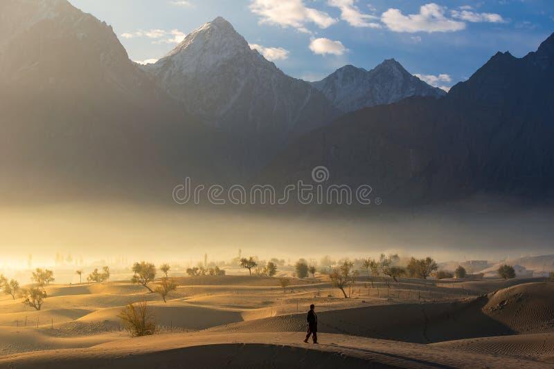 Пустыня песка Северный район Пакистан стоковое изображение