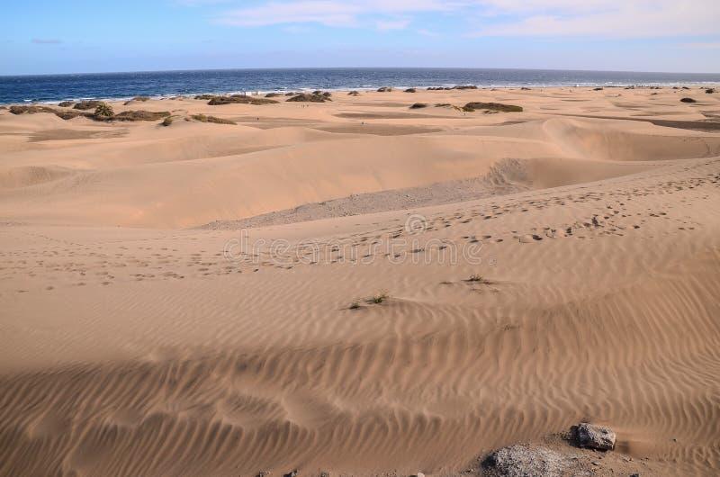 Пустыня песчанной дюны в Maspalomas стоковое фото