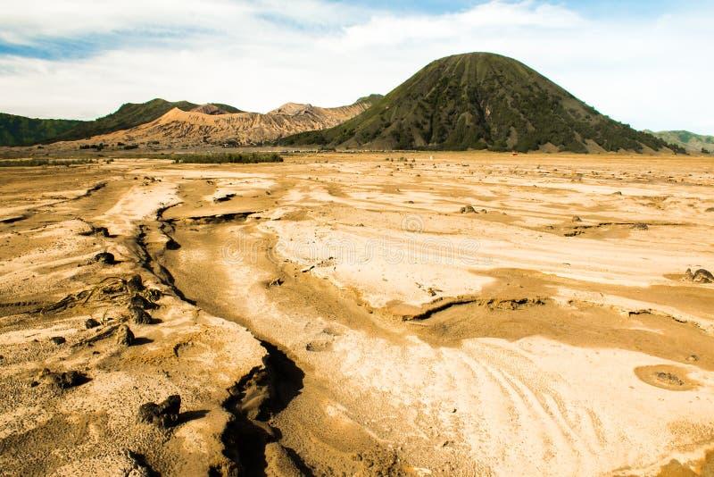 Пустыня под держателем Bromo, East Java, Индонезией стоковые изображения